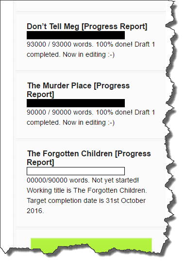 Book progress widget