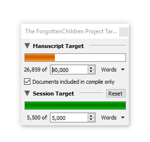 The Forgotten Children writing progress